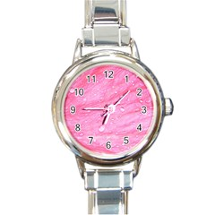 Pink Round Italian Charm Watches by timelessartoncanvas