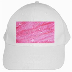Pink White Cap by timelessartoncanvas
