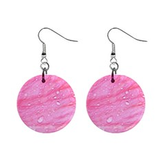 Pink Mini Button Earrings by timelessartoncanvas