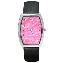 Pink Barrel Metal Watches by timelessartoncanvas
