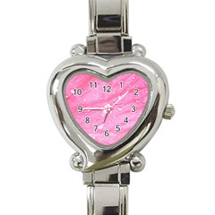 Pink Heart Italian Charm Watch by timelessartoncanvas