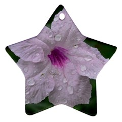 Pink Purple Flowers Ornament (Star)  by timelessartoncanvas