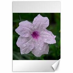 Pink Purple Flowers Canvas 12  X 18   by timelessartoncanvas