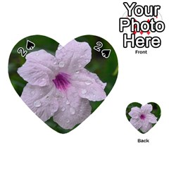 Pink Purple Flowers Playing Cards 54 (heart)