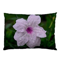 Pink Purple Flowers Pillow Cases by timelessartoncanvas