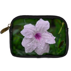 Pink Purple Flowers Digital Camera Cases by timelessartoncanvas