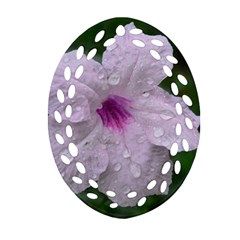 Pink Purple Flowers Ornament (oval Filigree)  by timelessartoncanvas