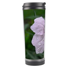 Pink Purple Flowers Travel Tumblers by timelessartoncanvas