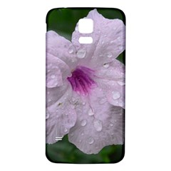 Pink Purple Flowers Samsung Galaxy S5 Back Case (white) by timelessartoncanvas
