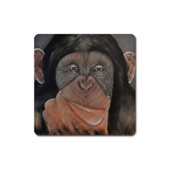 Menschen   Interesting Species! Square Magnet by timelessartoncanvas