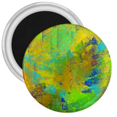 Abstract In Blue, Green, Copper, And Gold 3  Magnets by theunrulyartist