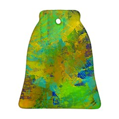 Abstract In Blue, Green, Copper, And Gold Ornament (bell)  by theunrulyartist
