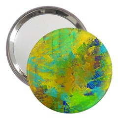 Abstract In Blue, Green, Copper, And Gold 3  Handbag Mirrors by theunrulyartist