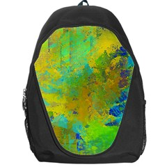 Abstract in Blue, Green, Copper, and Gold Backpack Bag by theunrulyartist