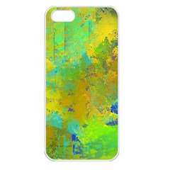 Abstract In Blue, Green, Copper, And Gold Apple Iphone 5 Seamless Case (white) by theunrulyartist