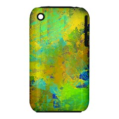 Abstract In Blue, Green, Copper, And Gold Apple Iphone 3g/3gs Hardshell Case (pc+silicone)