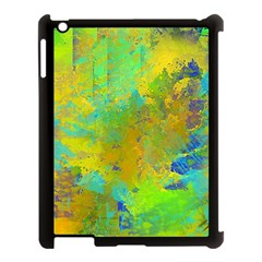 Abstract In Blue, Green, Copper, And Gold Apple Ipad 3/4 Case (black) by digitaldivadesigns