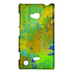 Abstract In Blue, Green, Copper, And Gold Nokia Lumia 720 by theunrulyartist
