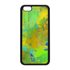 Abstract In Blue, Green, Copper, And Gold Apple Iphone 5c Seamless Case (black) by theunrulyartist