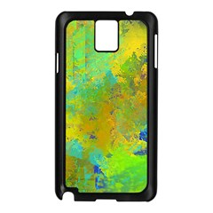 Abstract In Blue, Green, Copper, And Gold Samsung Galaxy Note 3 N9005 Case (black) by theunrulyartist