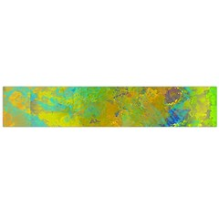 Abstract In Blue, Green, Copper, And Gold Flano Scarf (large)  by theunrulyartist