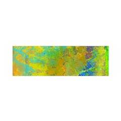 Abstract In Blue, Green, Copper, And Gold Satin Scarf (oblong) by theunrulyartist