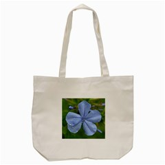 Blue Water Droplets Tote Bag (cream)  by timelessartoncanvas