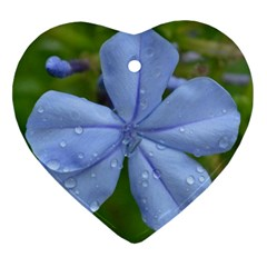Blue Water Droplets Heart Ornament (2 Sides) by timelessartoncanvas