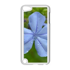 Blue Water Droplets Apple Ipod Touch 5 Case (white) by timelessartoncanvas