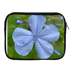 Blue Water Droplets Apple Ipad 2/3/4 Zipper Cases by timelessartoncanvas