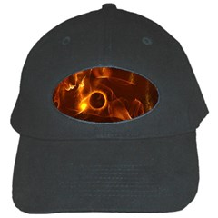 Fire And Flames In The Universe Black Cap by FantasyWorld7