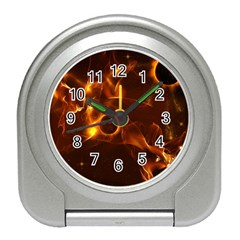 Fire And Flames In The Universe Travel Alarm Clocks by FantasyWorld7