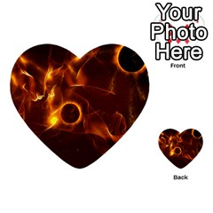 Fire And Flames In The Universe Multi Purpose Cards (heart)