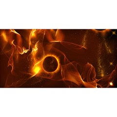 Fire And Flames In The Universe You Are Invited 3d Greeting Card (8x4)  by FantasyWorld7