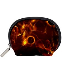 Fire And Flames In The Universe Accessory Pouches (small)  by FantasyWorld7
