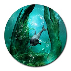 Wonderful Dolphin Round Mousepads by FantasyWorld7