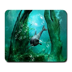 Wonderful Dolphin Large Mousepads by FantasyWorld7