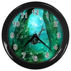 Wonderful Dolphin Wall Clocks (black) by FantasyWorld7