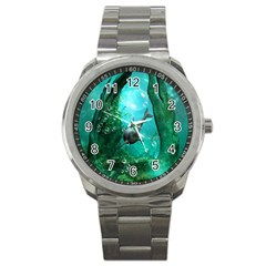 Wonderful Dolphin Sport Metal Watches by FantasyWorld7