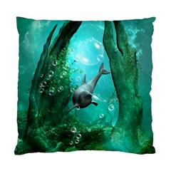 Wonderful Dolphin Standard Cushion Cases (two Sides)  by FantasyWorld7