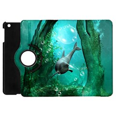 Wonderful Dolphin Apple Ipad Mini Flip 360 Case by FantasyWorld7