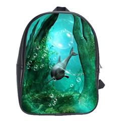 Wonderful Dolphin School Bags (xl)  by FantasyWorld7