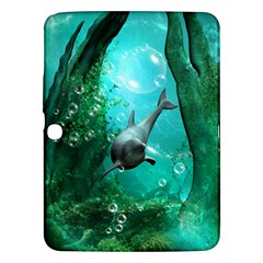 Wonderful Dolphin Samsung Galaxy Tab 3 (10 1 ) P5200 Hardshell Case  by FantasyWorld7