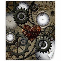 Steampunk With Heart Canvas 8  X 10  by FantasyWorld7
