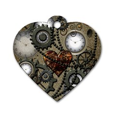Steampunk With Heart Dog Tag Heart (one Side) by FantasyWorld7