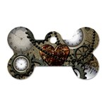 Steampunk With Heart Dog Tag Bone (Two Sides) Back