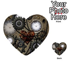 Steampunk With Heart Multi Purpose Cards (heart)  by FantasyWorld7