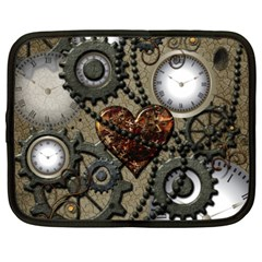 Steampunk With Heart Netbook Case (XXL)  by FantasyWorld7