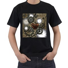 Steampunk With Heart Men s T Shirt (black) by FantasyWorld7
