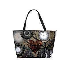 Steampunk With Heart Shoulder Handbags by FantasyWorld7